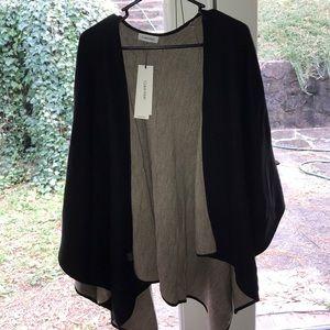 Calvin Klein reversible poncho/cape